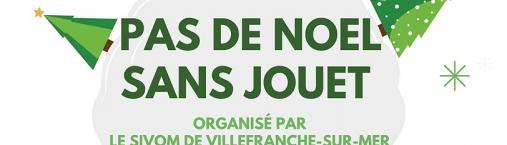 Pas de Noël sans jouet – Organisé par le SIVOM de Villefranche-sur-Mer