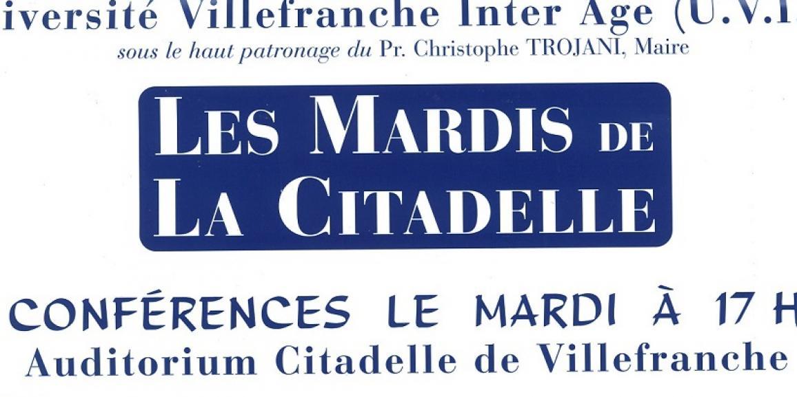 Les Mardis de la Citadelle – cycle de Conférences