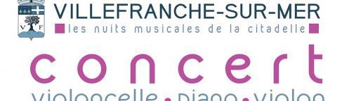 Concert – Les Nuits Musicales de la Citadelle : Trio Violoncelle – Piano – Violon