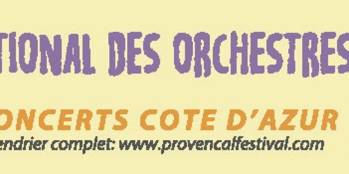 15ème Festival International des Orchestres de Jeunes en Provence.